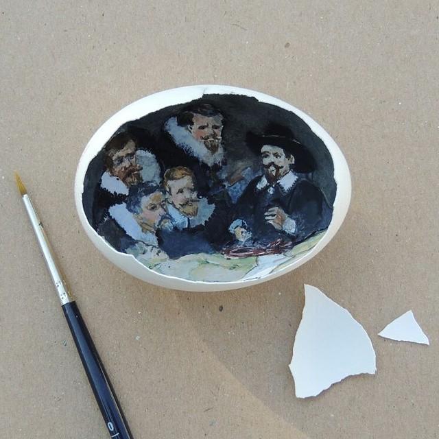 картины внутри яичной скорлупы, Сурейя Ноян, Süreyya Noyan