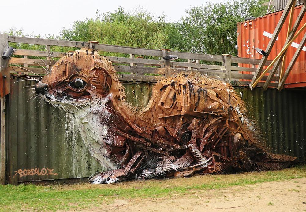 произведения из отходов, загрязнение окружающей среды, Bordalo II