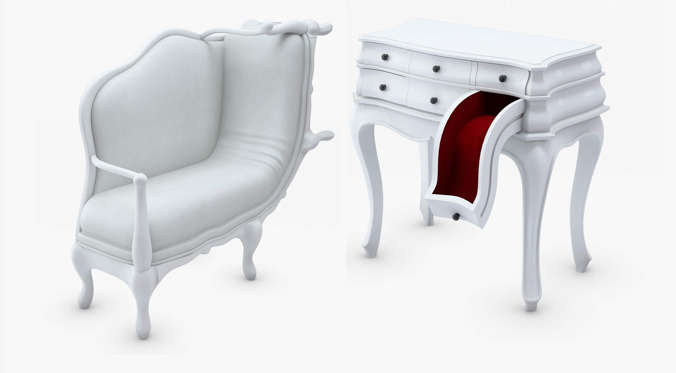 Мебель в стиле сюрреализм, дизайнеркая креативная мебель