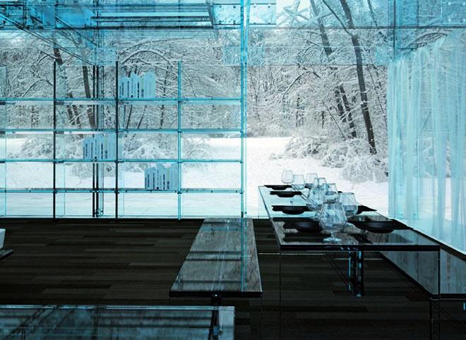 Стеклянная мебель, дизайнеркая креативная мебель