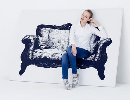 Кресла-холсты, дизайнеркая креативная мебель