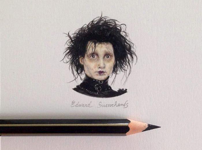 персонажи фантастических фильмов, миниатюрные иллюстрации, Клаудия Маккечини, Claudia Maccechini