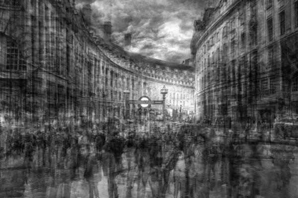 Фотограф объединяет снимки, создавая иллюзию рисунка