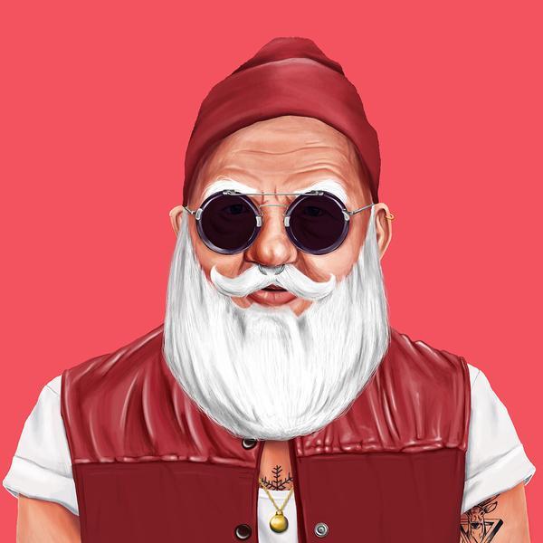 Hipstory, мировые лидеры в иллюстрациях, Амит Шимони, Amit Shimoni, Санта Клаус