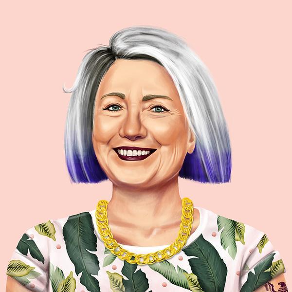 Hipstory, мировые лидеры в иллюстрациях, Амит Шимони, Amit Shimoni, Хиллари Клинтон
