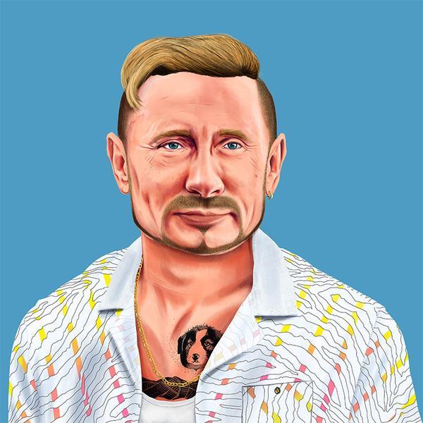 Hipstory, мировые лидеры в иллюстрациях, Амит Шимони, Amit Shimoni, Владимир Путин