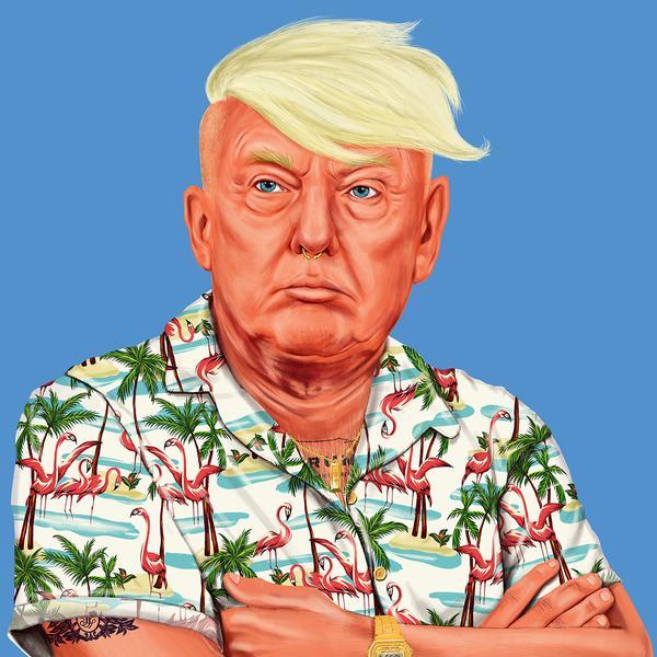 Hipstory, мировые лидеры в иллюстрациях, Амит Шимони, Amit Shimoni, Дональд Трамп