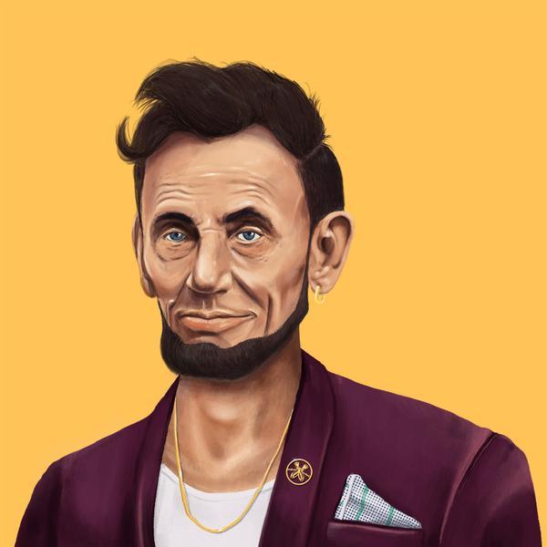 Hipstory, мировые лидеры в иллюстрациях, Амит Шимони, Amit Shimoni, Авраам Линкольн
