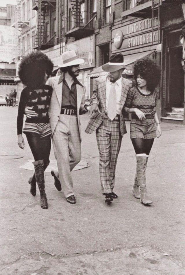 Женский уличный стиль 70-х