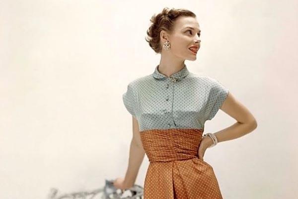 Цветные фотографии западной женской моды 1940-х годов