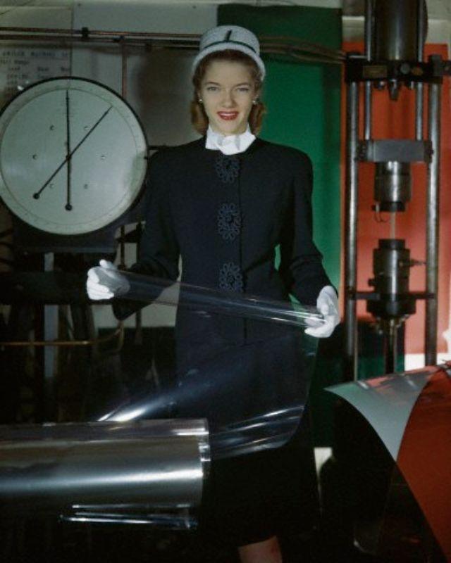 фотографии, западная женская мода 1940-х