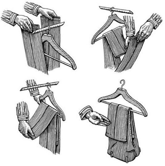 Как повесить брюки правильно