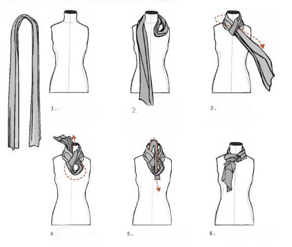 Как завязать лёгкий шарф