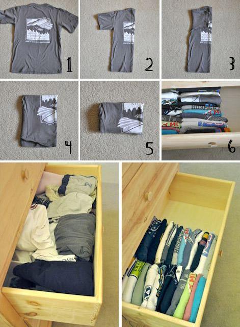 Как сэкономить место в гардеробе