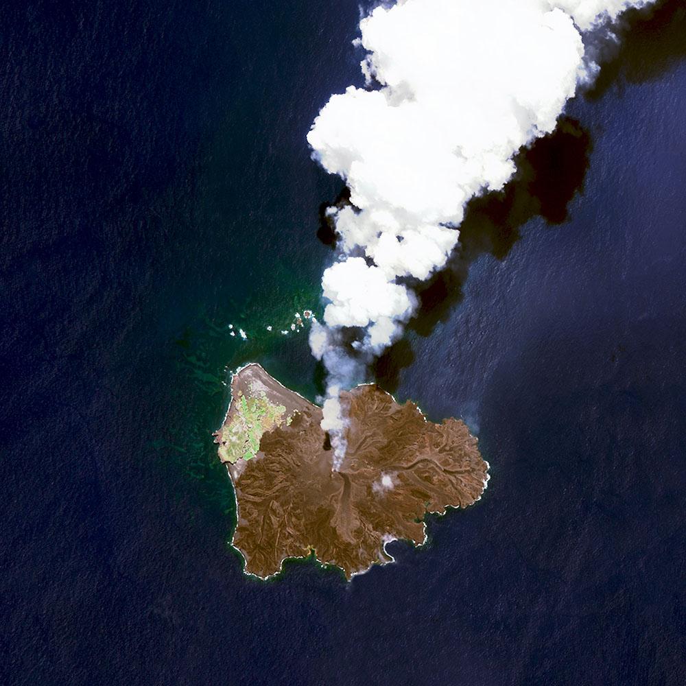 Вулканический остров в Японии