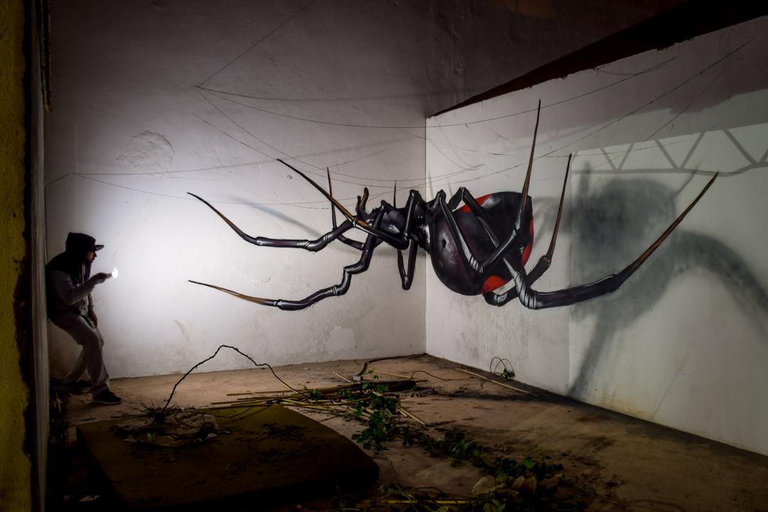 анаморфные граффити, Серхио Одейт, Sergio Odeith