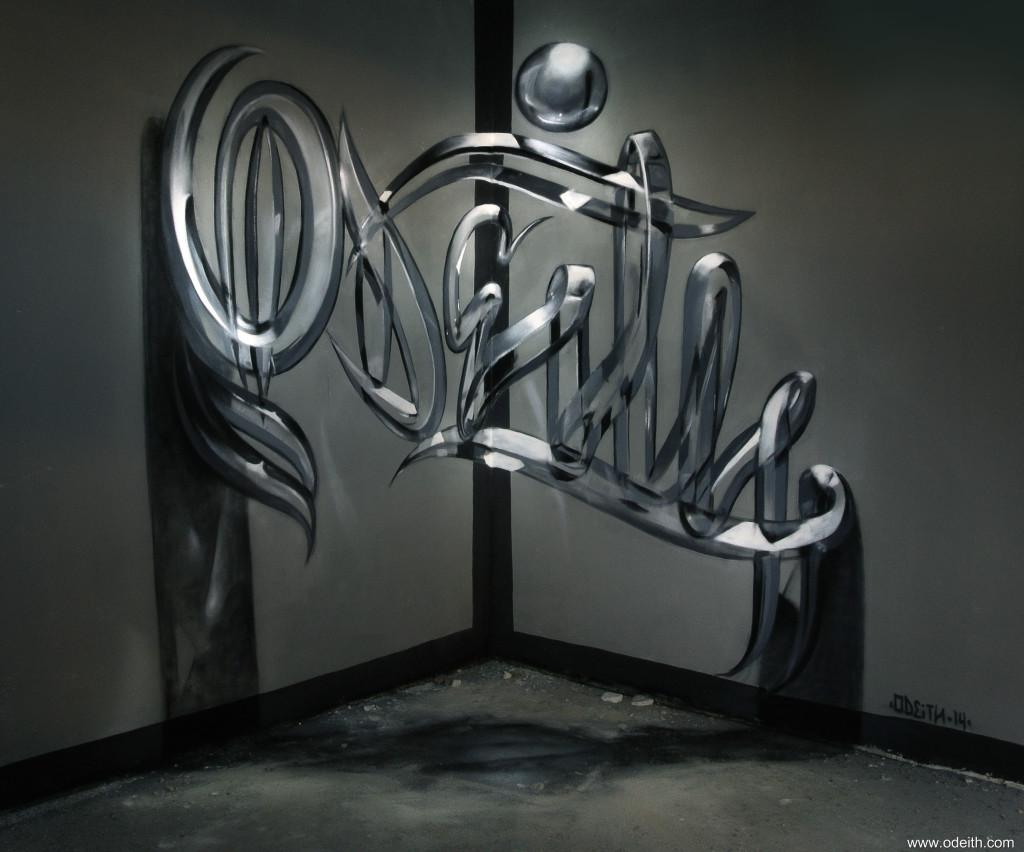 Анаморфные граффити от Серхио Одейта