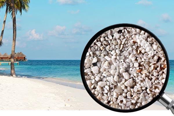Макро-фотографии песка с различных островов Индийского океана