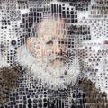 Искусные портреты из тысяч деталей от Майкла Мэйпса