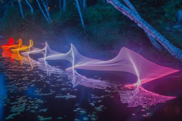 Визуализация движений различных видов спорта в фотопроекте Стивена Орландо