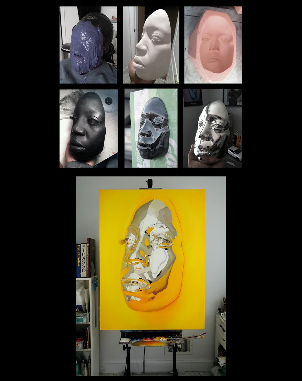 Diovadiova Chrome, гиперреалистичные портреты, Кип Омолейд, Kip Omolade