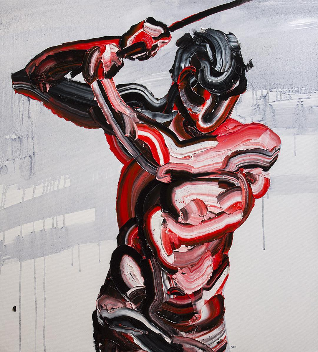 абстрактные композиции, масляная краска, Салман Хошру, Salman Khoshroo