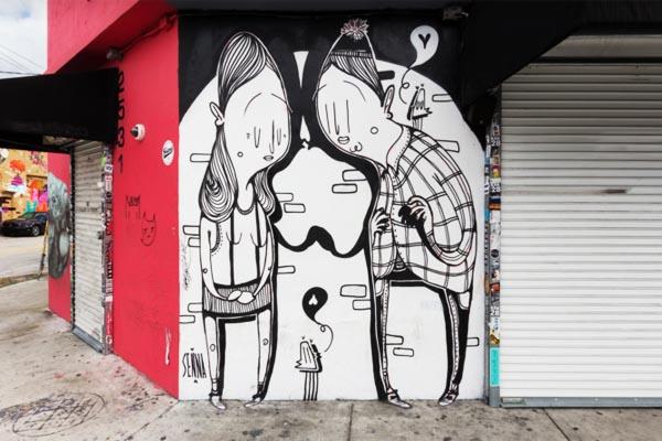 Забавный стрит-арт от Алекса Сенна