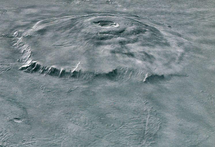 Самая высокая гора Марса, вулкан Олимп