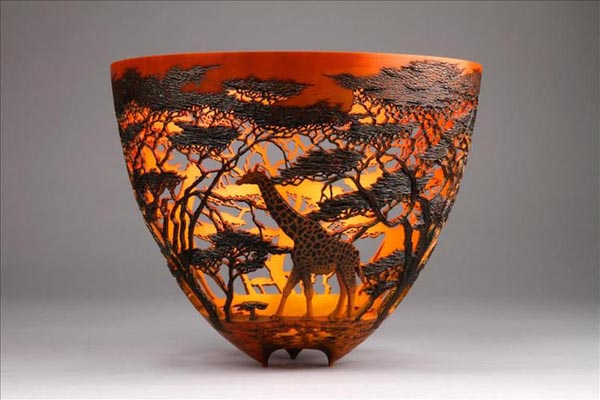 Замысловатые вазы из валёжника от Гордона Пембриджа