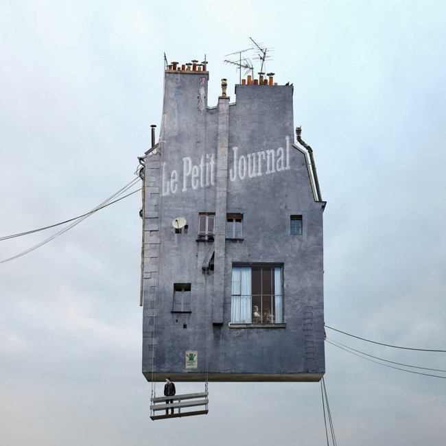 Летающие дома, Flying Houses, Ménilmontant, бедность в пригороде Парижа, Лоран Шере, Laurent Chéhère