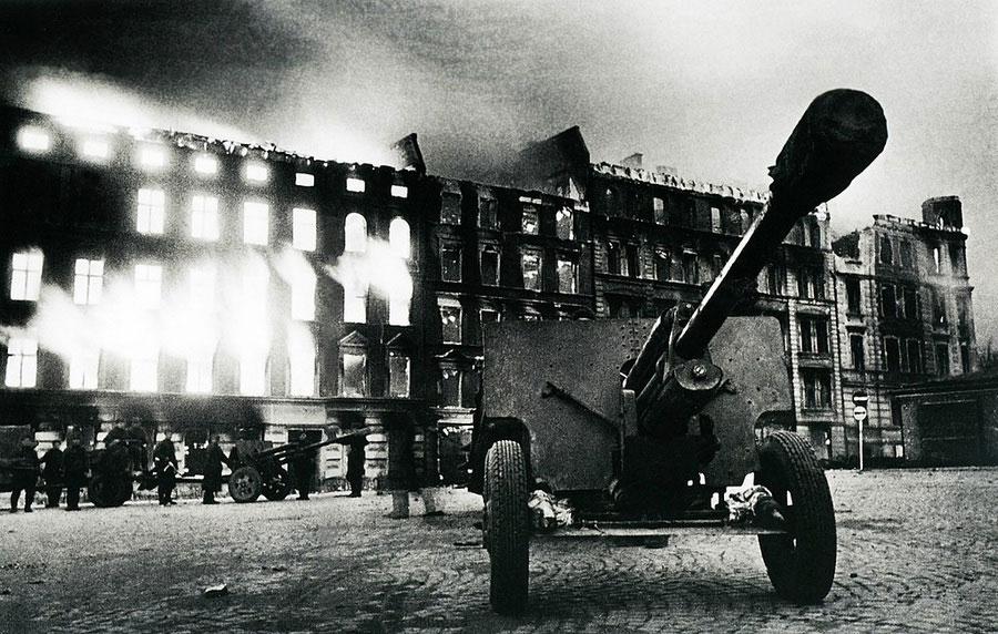 Остановка на марше, 1945 год