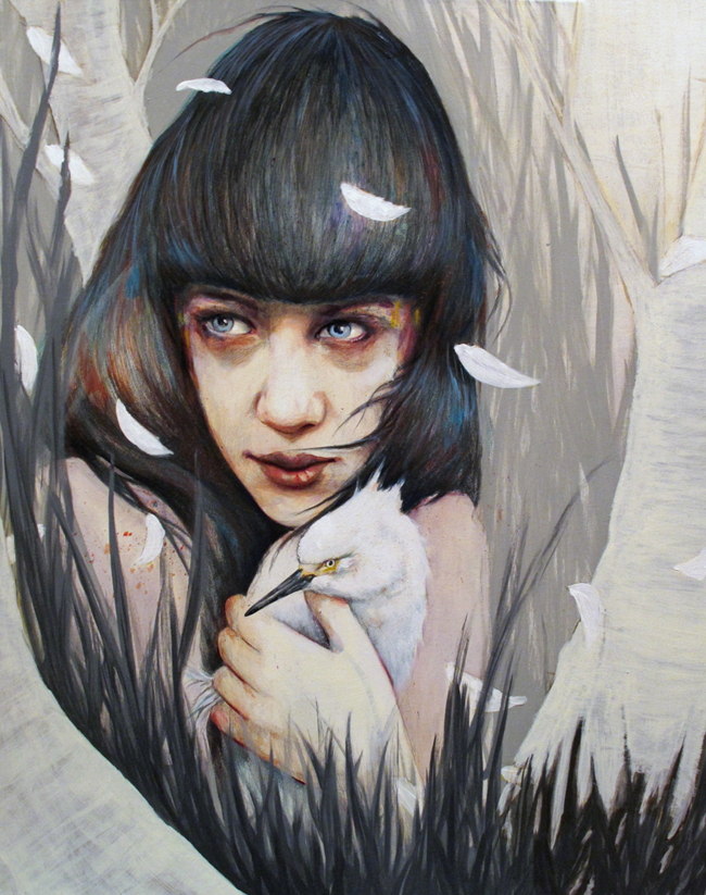 портреты девушек, акрил, масло, Майкл Шапкотт, Michael Shapcott