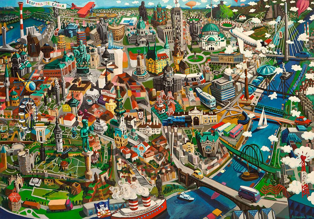 панорамы известных городов мира, Вук Вучкович, Vuk Vučković