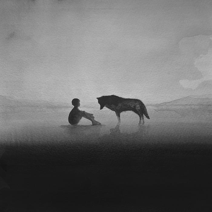 чёрно-белые акварельные картины, Элисия Эдижанто, Elicia Edijanto