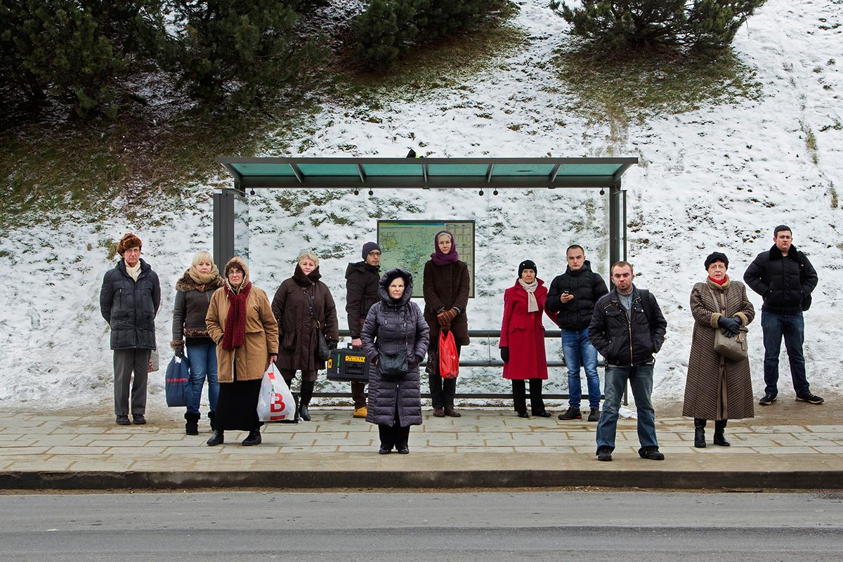 автобусные остановки, фотосерия, Симас Лин, Simas Lin