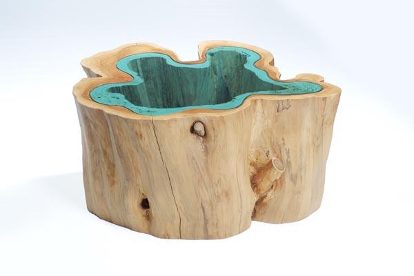 Красивый дизайн: мебель с имитацией водоемов от Грега Классена