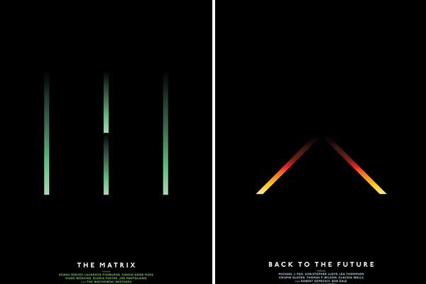 Постеры к знаменитым фильмам в стиле минимализм