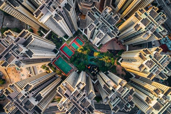 Густонаселённый Гонконг в аэрофотографиях Энди Енга