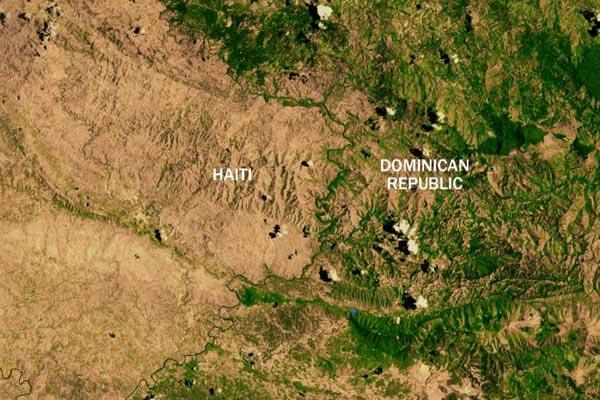Как выглядят государственные границы из космоса