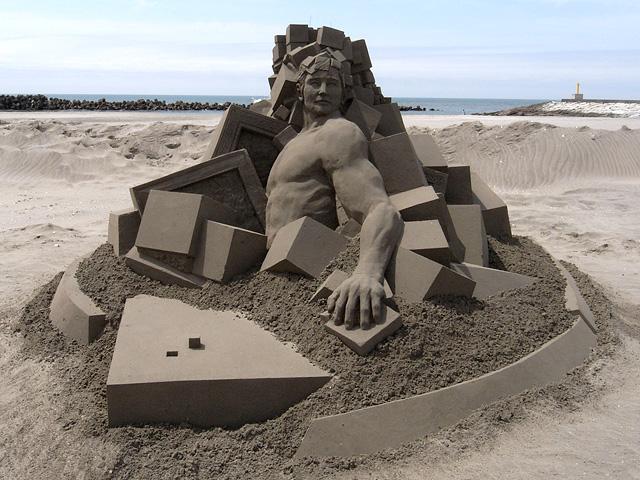 скульптуры из песка, Тошихико Хосаки, Toshihiko Hosaka