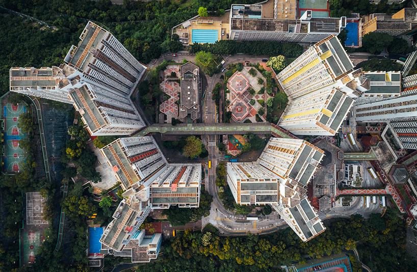густонаселённый Гонконг, аэрофотографии, Энди Енг, Andy Yeung