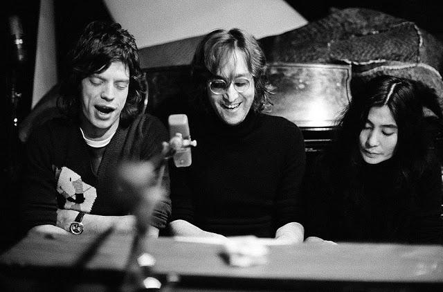 Мик Джаггер, Джон Леннон и Йоко Оно, 1972