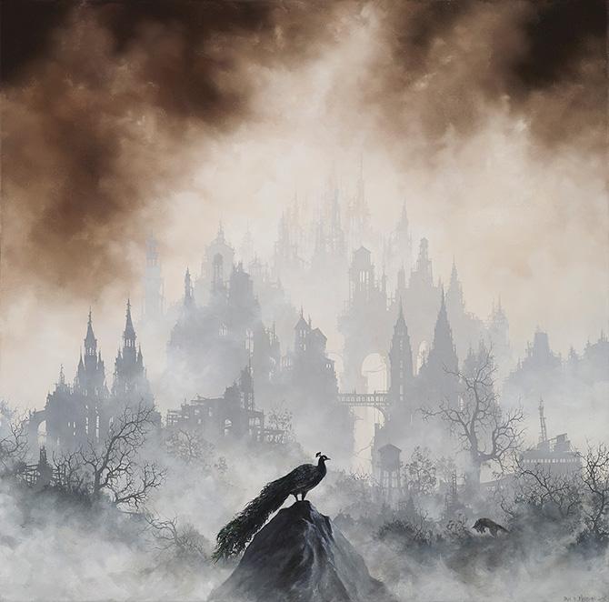туманные пейзажи, картины, постапокалипсис, Брайан Машбёрн, Brian Mashburn