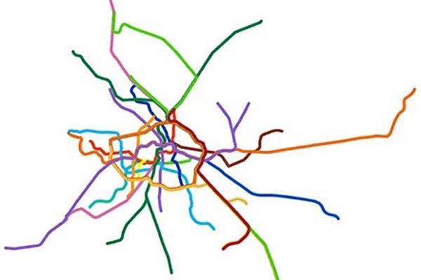 Анимированные схемы метро в сравнении с их фактической географией