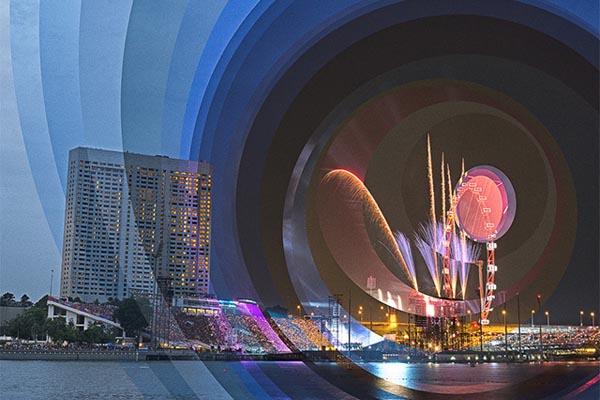 Течение времени в красочных коллажах Фонг Ки Вейя