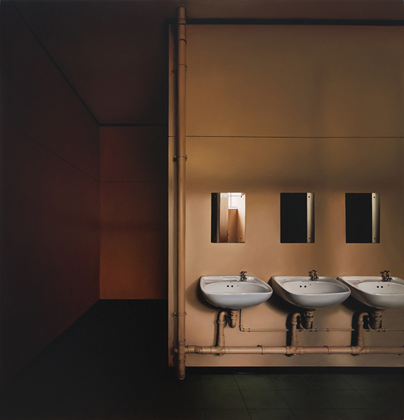 пустующие интерьеры, гиперреалистичные картины, Джина Хейер, Gina Heyer