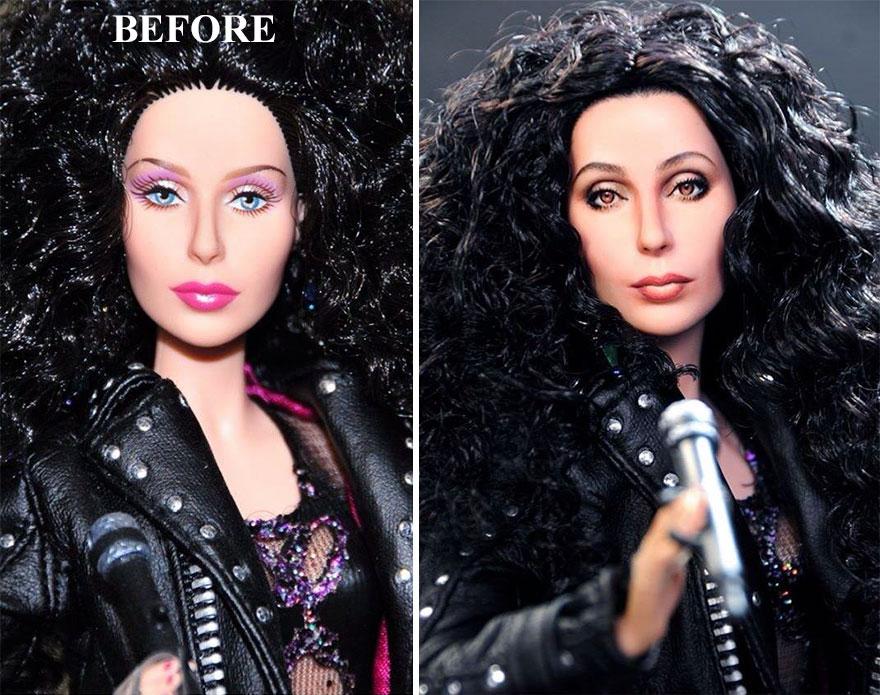 Ноэль Круз, Noel Cruz, художник, перекрашивает кукол
