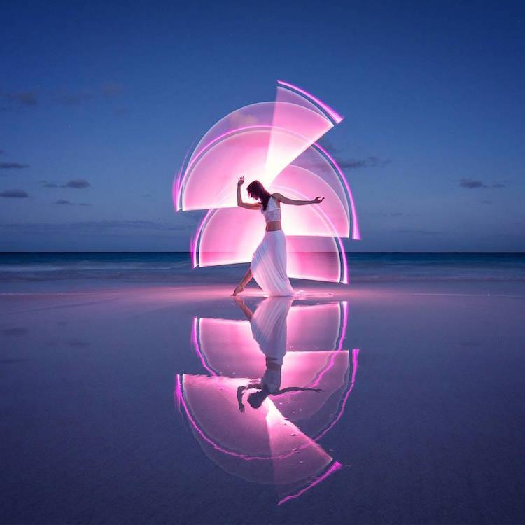 световое искусство, изящные фотографии, Эрик Паре, Eric Paré