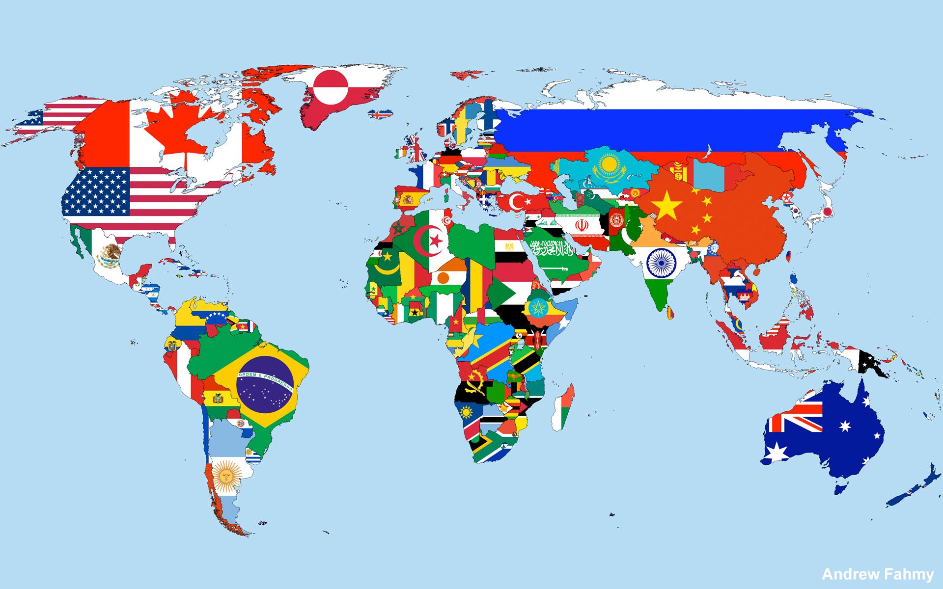 Карта языков земли
