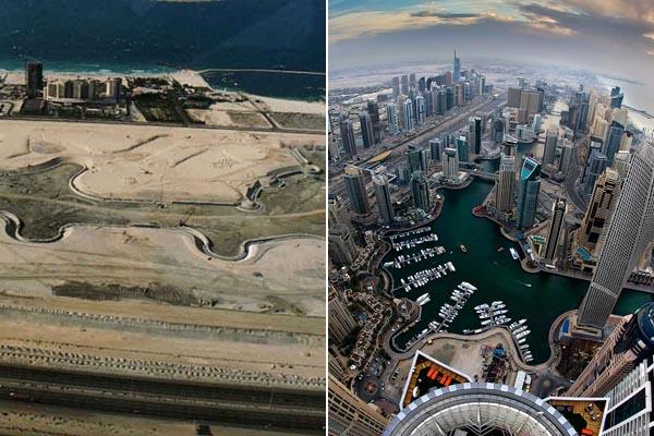 Фотографии крупнейших городов тогда и сейчас